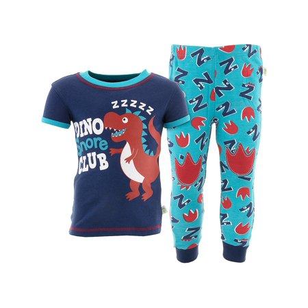 Duck Duck Goose Boys Dino Snore Blue Cotton Pajamas](Adult Dinosaur Pajamas)