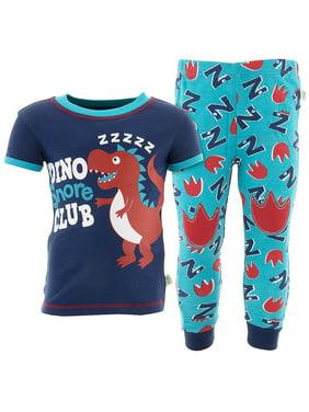 Duck Duck Goose Boys Dino Snore Blue Cotton Pajamas