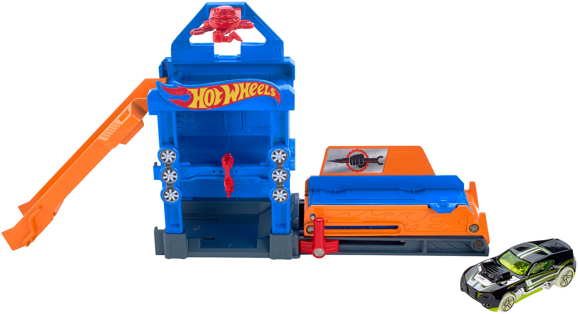 Hot Wheels Robo-Lift Speed Shop Play Set by Mattel