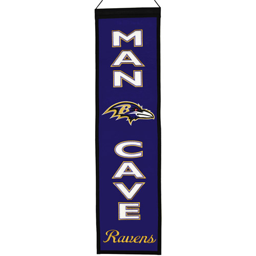 NFL Man Cave Banner, Baltimore Ravens