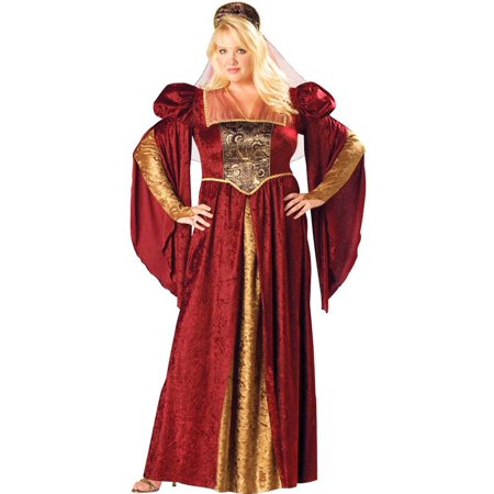 Renaissance Maiden Plus Size Costume for $<!---->