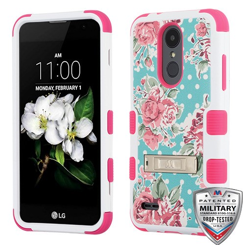 For LG Aristo 2, K8, Tribute Dynasty TUFF Hybrid Protector Case Cover with Stand
