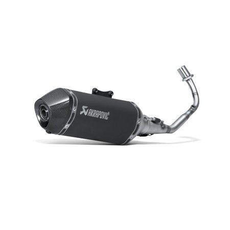 Akrapovic S-VE125R1HZBL/1 Racing Line Full System Exhaust - Black Stainless Steel