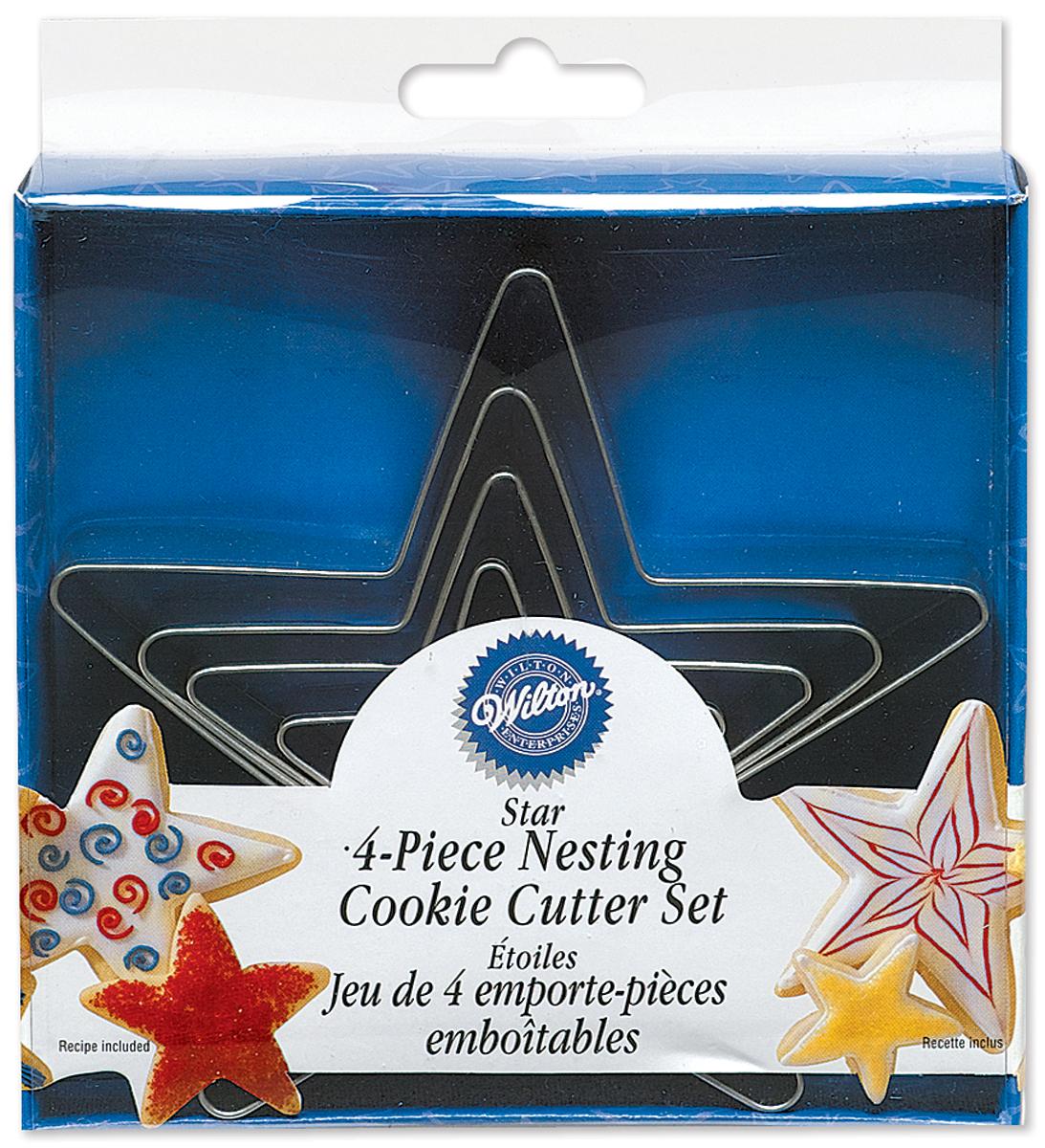 Wilton Nesting 4-Piece Metal Stars Cookie Cutter Set