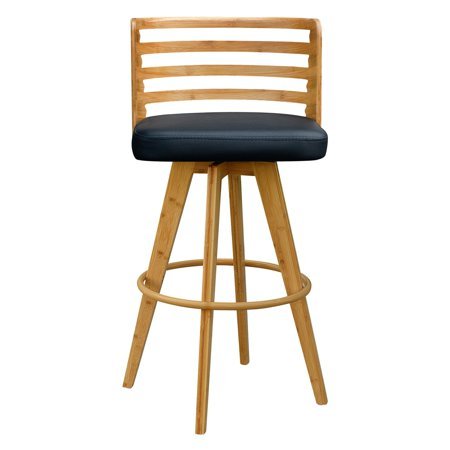 Gallerie Decor Metro Bamboo Swivel Bar Stool