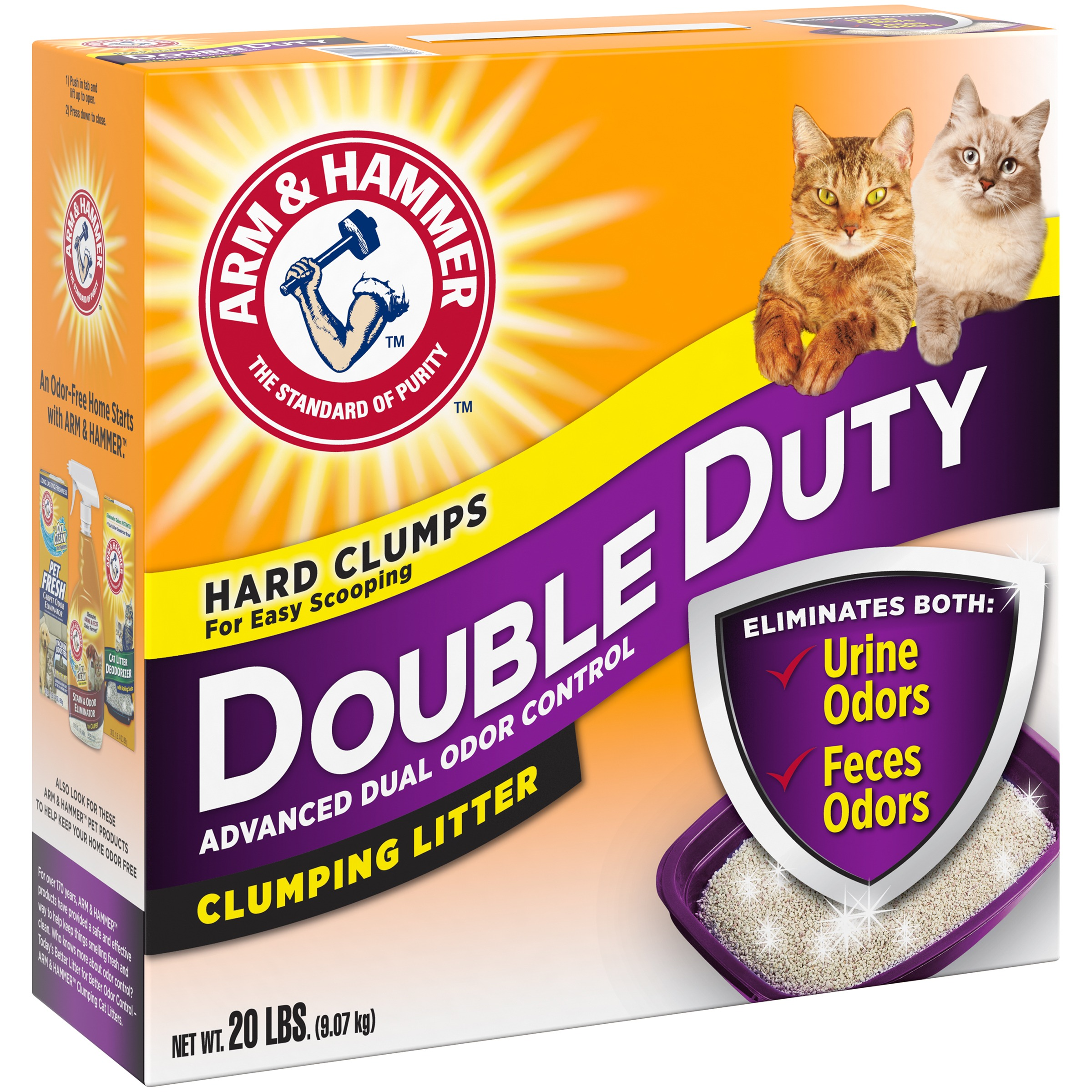 Arm & Hammer™ Double Duty Advanced Dual Odor Control Clumping Cat Litter 20 lb. Box