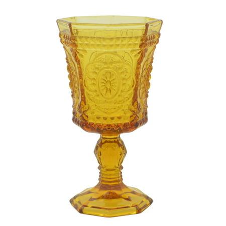 10 Strawberry Street Vatican Amber 8 oz Goblets, Set of 6
