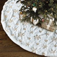 30/35/48inch Snowflake Christmas Tree Skirt Ornament Diameter Christmas Decoration New Year Party Supply