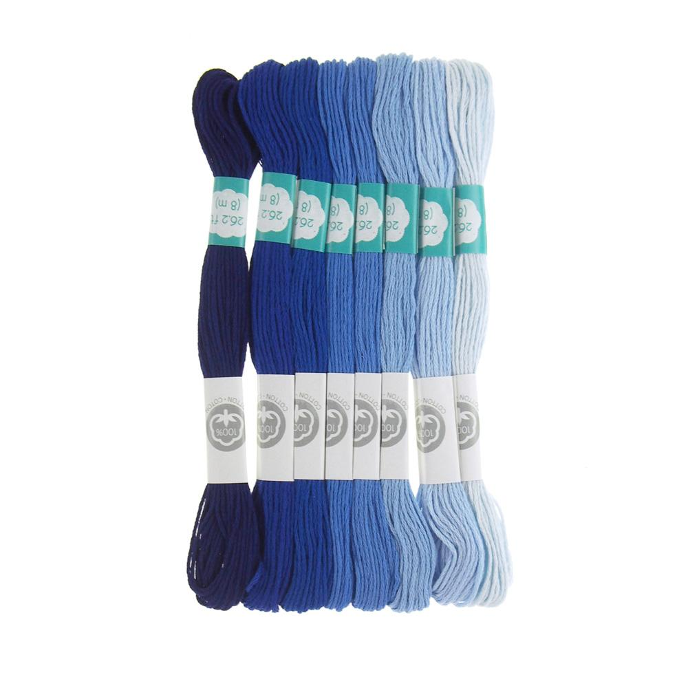 Cotton Embroidery Floss, 8.7-Yard, 8-Count, Blue Heaven