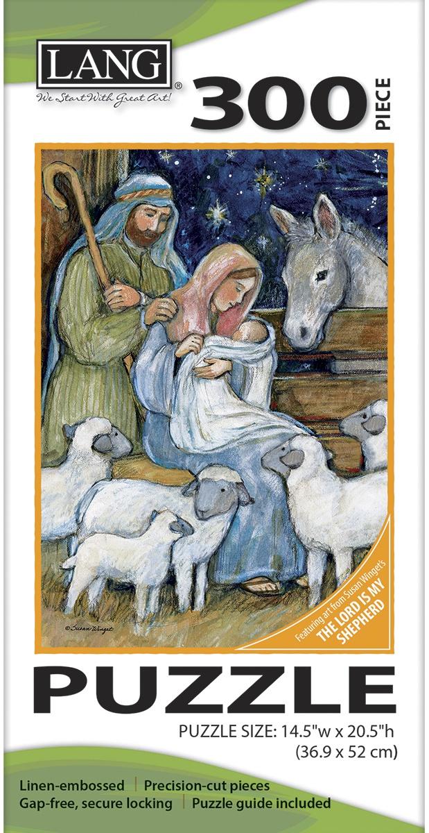 "Jigsaw Puzzle 300 Pieces 14.5/""X20.5/""-Sheep Nativity"