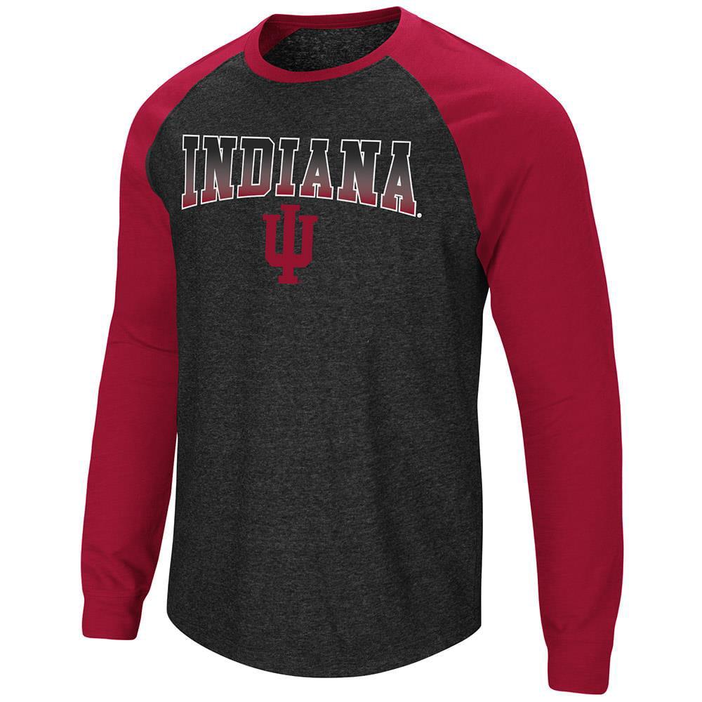 Mens Indiana Hoosiers Long Sleeve Raglan Tee Shirt - M