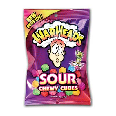 Warheads Sour Chewy Cubes Candy, 5 Oz.