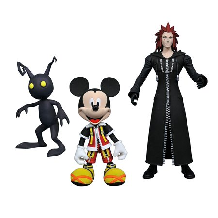 Acela Set - Diamond Select Toys Kingdom Hearts Select: Mickey, Axel, and Shadow Action Figure Set