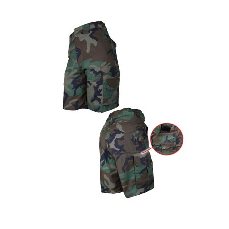 Tru-Spec 24-7 Series 50/50 Cordura NYCO Woodland Original Tactical Shorts, 30 5.11 Tactical Canvas Shorts