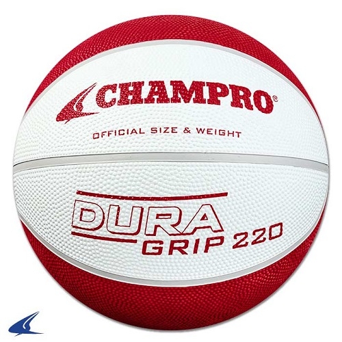 CHAMPRO Super Grip Rubber Basketball Women's White/Red