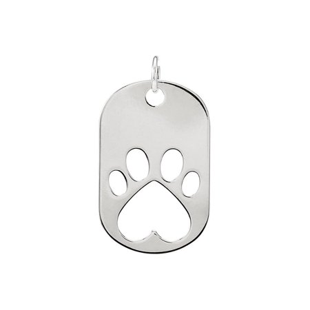 "925 Sterling Silver Our Cause for Pawsâ""¢ Dog Tag Pendant For Necklace"