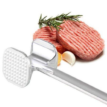 19.5cm Two Sides Aluminum Meat Hammer Mallet Beef Chicken Steak Beefs (Boneless Pork Steak)