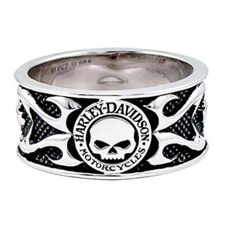 Harley Willie G Sterling Silver Skull Ring