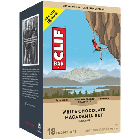 CLIF Bar White Chocolate Macadamia Energy Bars 18-2.4 oz.