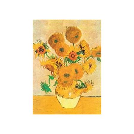 buyartforless CAN MMGW1012 Gallery Wrap Sunflowers 16X12 by Vincent Van Gogh Stretched Canvas - Art Print Poster Museum Masterpiece Master Painter