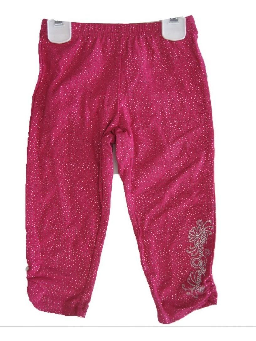 Little Girls Pink Sparkle Hannah Montana Embroidered Capri Pants 4-6X