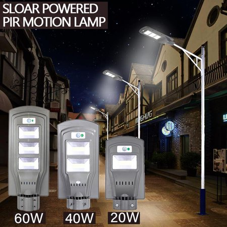 Ktaxon 20W/40W/60W LED Solar Power Street Light Induction PIR Motion Sensor Wall (Best Solar Powered Motion Lights)