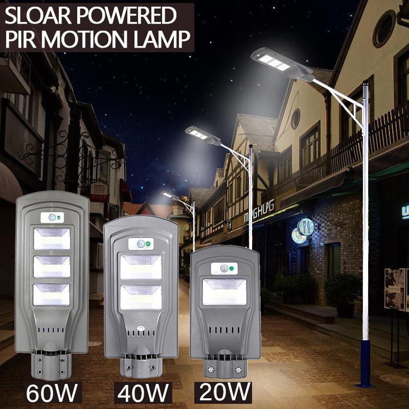 Ktaxon 20W/40W/60W LED Solar Power Street Light Induction PIR Motion Sensor Wall Lamp