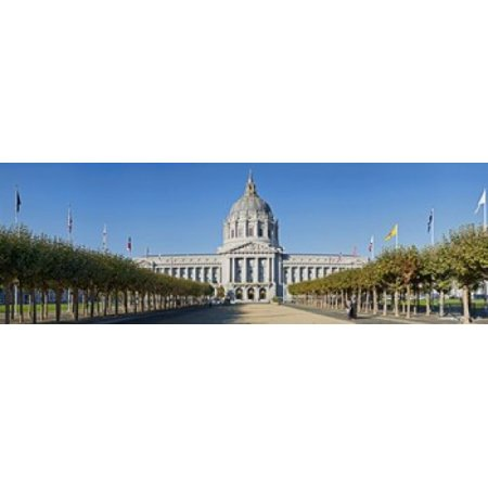 Facade of the Historic City Hall near the Civic Center San Francisco California USA Canvas Art - Panoramic Images (18 x 6)](Party City Near Here)
