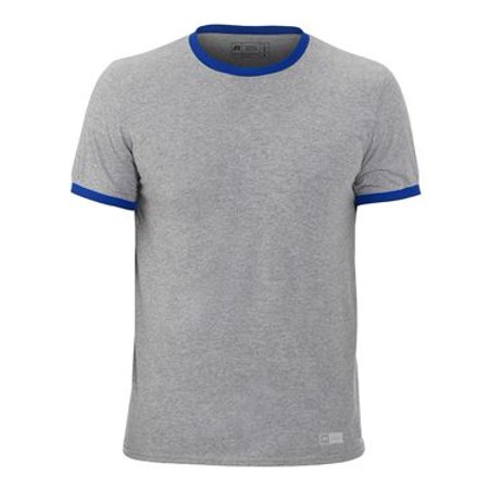 Russell Athletic Short Sleeve Ringer Tee L Oxford/ Royal