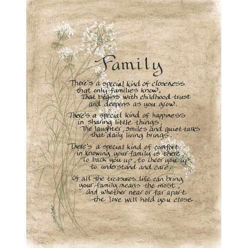 LPG Greetings Life Lines Family by Lori Voskuil-Dutter Textual Art Plaque