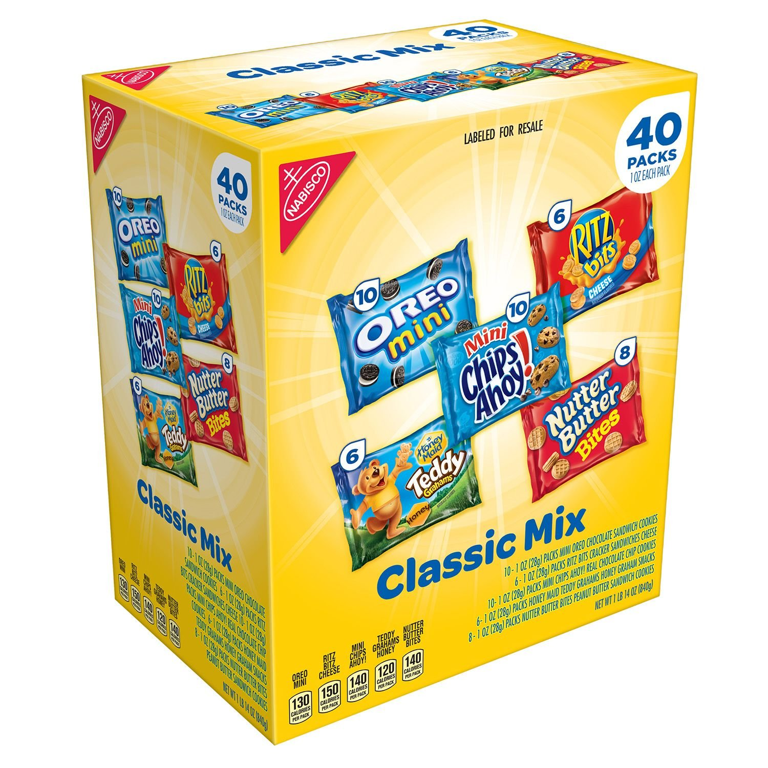 Nabisco Classic Mix Variety Pack (40 ct.) (pack of 2)