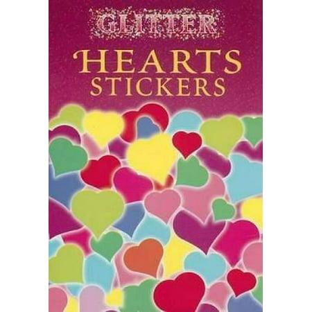 Glitter Hearts Stickers - Heart Glitter
