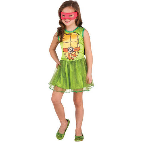 Teenage Muntant Ninja Turtle  Raphael  Girls Tutu Dress Halloween Costume  sc 1 st  Walmart & Ninja Turtle Costumes
