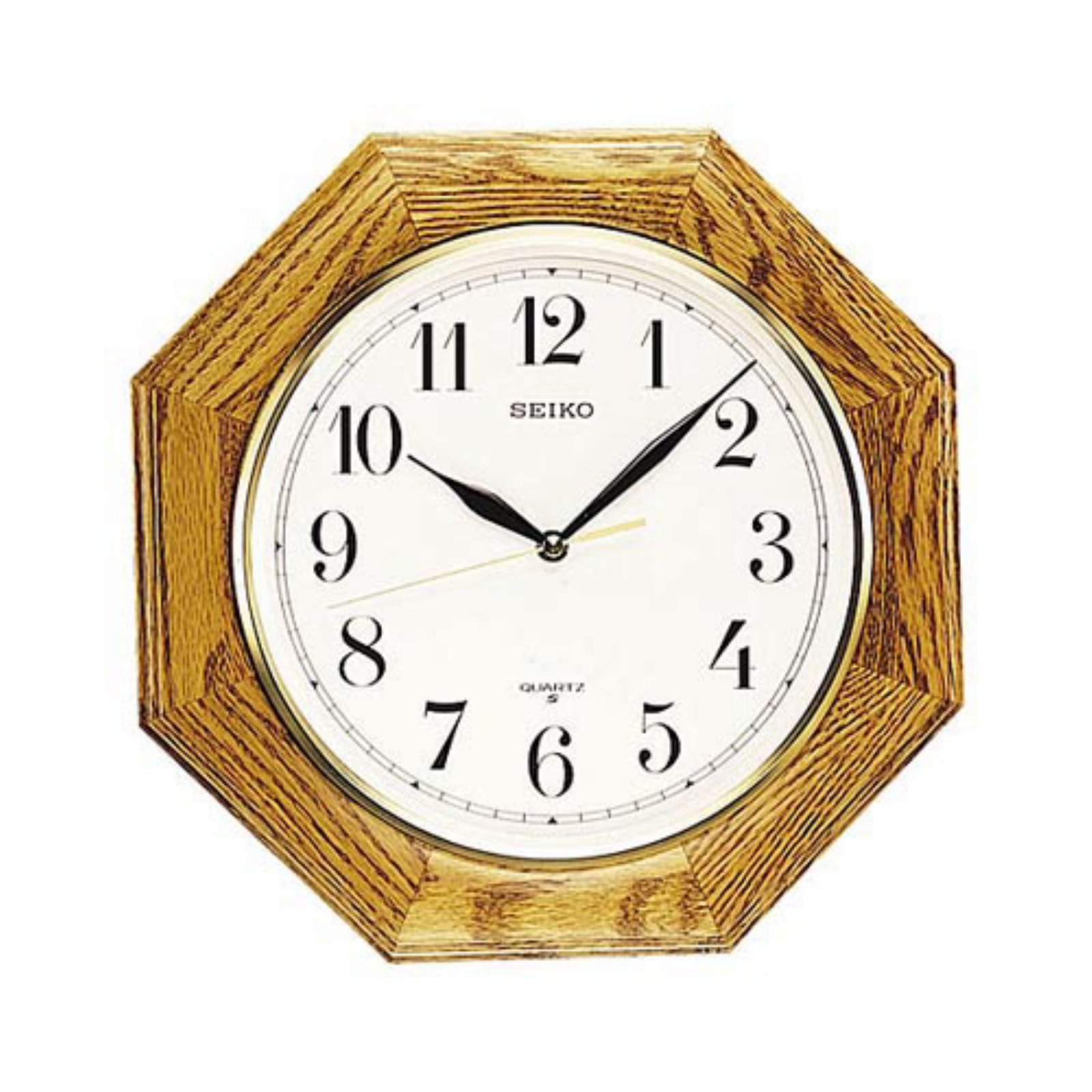 Seiko Medium Brown Oak 12 Inch Wall Clock