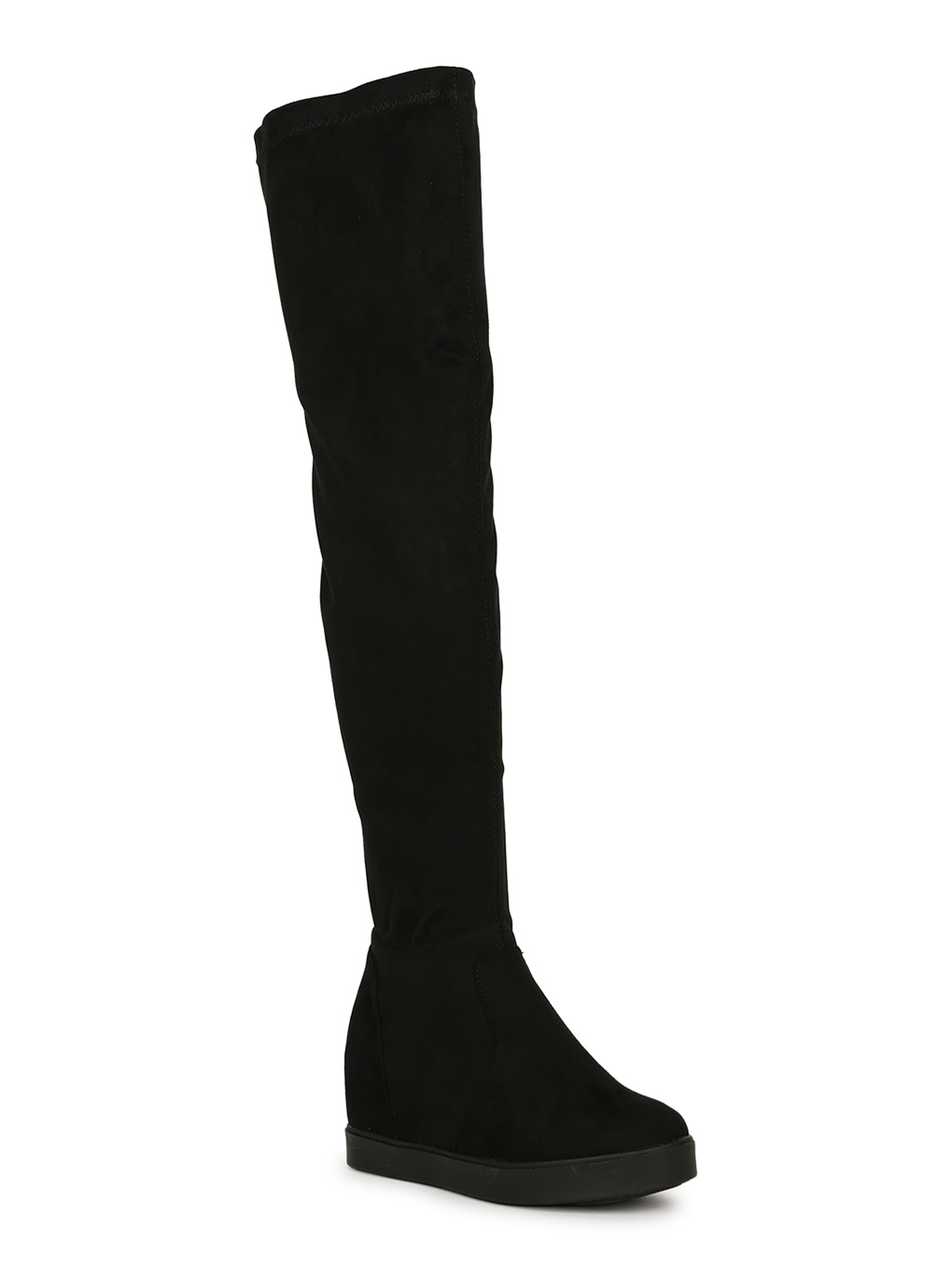 Details about  /Fashion Women Round Toe Pull on Hidden Wedge Heels Over The Knee Boots Shoes sz