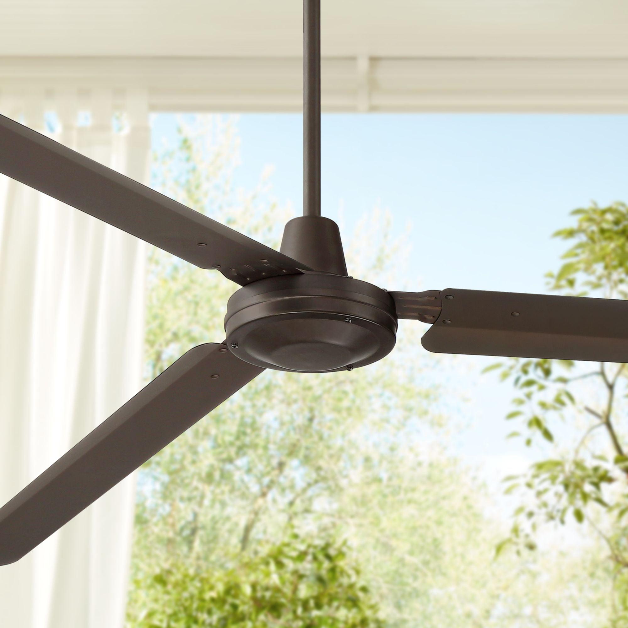 "Casa Vieja 72"" Casa Velocity Bronze Damp Ceiling Fan"