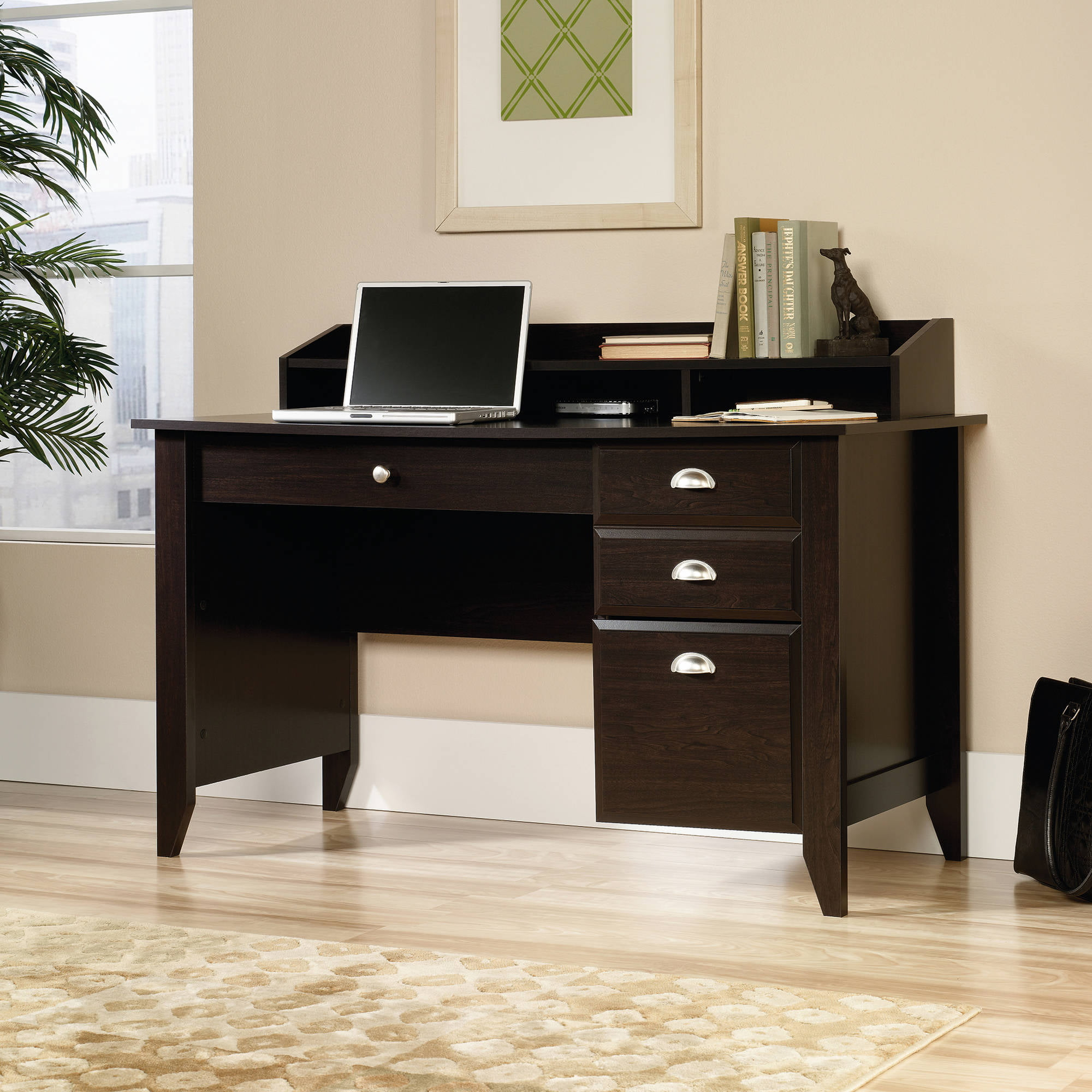 Sauder shoal creek executive desk in jamocha wood - Sauder Shoal Creek Executive Desk In Jamocha Wood 6