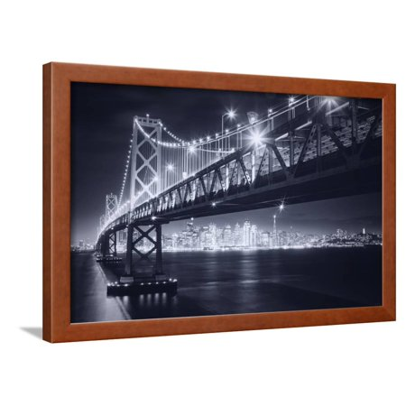 Classic Black and White Night in the City - San Francisco, California Framed Print Wall Art By Vincent James (San Francisco City Wall Art)