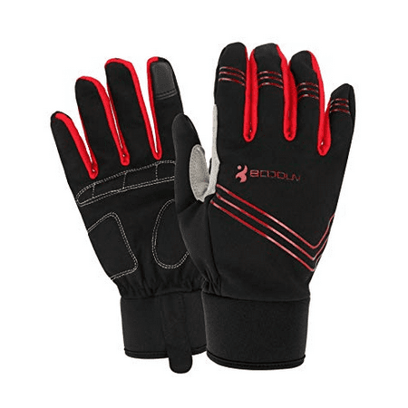 All Mountain All Terrain Skis (Cycling Gloves Winter Thermal Touch Screen Sport Cycling Gloves MTB Mountain Bike Bicycle Running Ski Mountaineering )