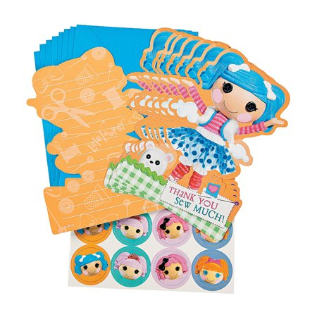 Fun Express - Lalaloopsy Thank You Cards for Birthday - Party Supplies - Licensed Tableware - Licensed Invitations - Birthday - 8 Pieces](Lalaloopsy Party Supplies)