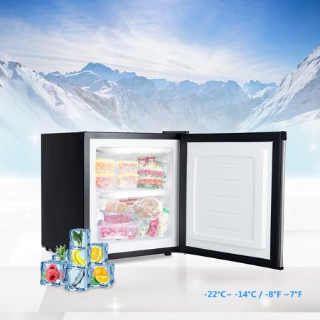 1.1 cu.ft. Compact Mini Upright Freezer Stainless Steel Single Door Home Dorm - image 7 of 10