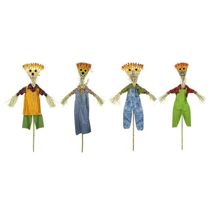 Pack of 12 Broom Head Scarecrow Autumn Halloween Decorations 6' - Halloween Cheese Brooms