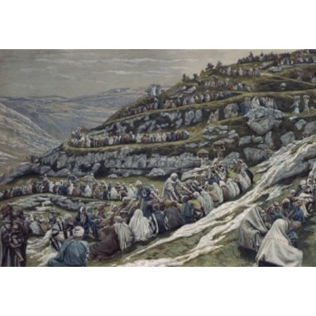 Miracle of the Loaves and Fishes James Tissot Poster Print