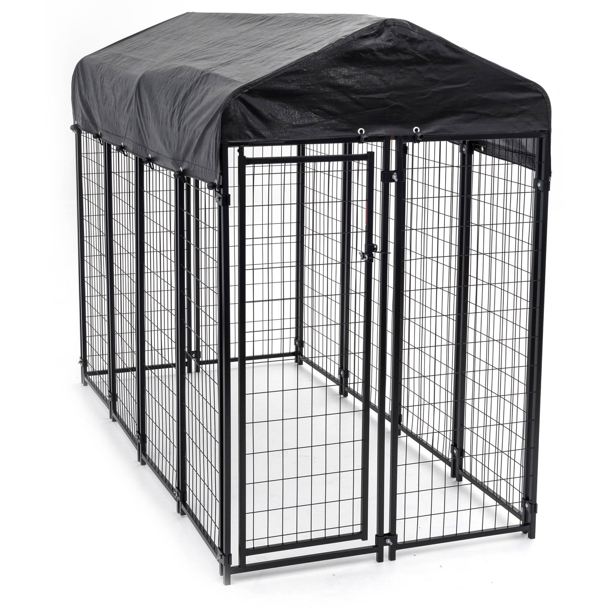 Lucky Dog Welded Wire Uptown Dog Kennel, 6\'x 4\' x4\' - Walmart.com