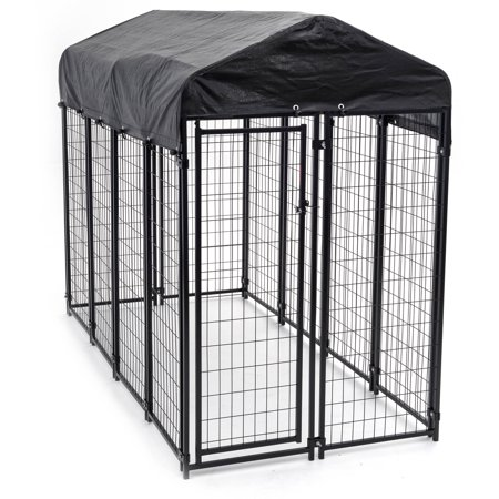 Lucky Dog Uptown Welded Wire Kennel, 6'H x 4'W x 8'L