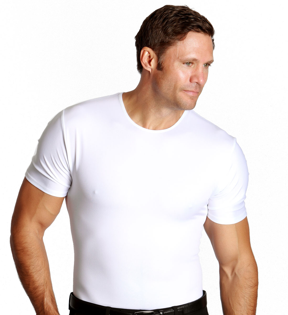 3 Pack Men's Firming Compression Crew Neck Shirt