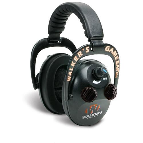 Walkers Game Ear Elite Quad Electronic Power Muffs, 50db, Black