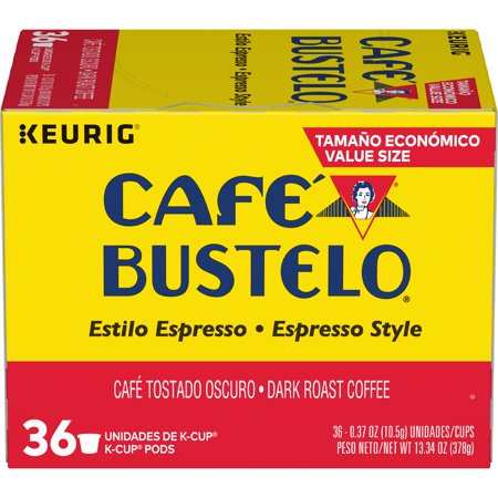 Café Bustelo Espresso Style K-Cup Pods for Keurig K-Cup Brewers, Dark Roast Coffee,
