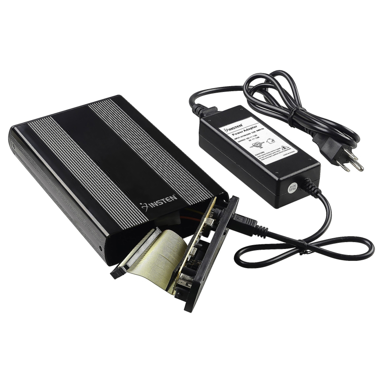 "Insten 3.5"" IDE External HDD Hard Drive Enclosure, Black (with External AC Power Supply)"