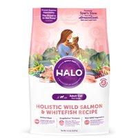 Halo Natural Dry Cat Food, Wild Salmon & Whitefish Recipe, 11.5-Pound Bag